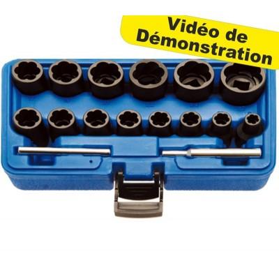 Kit Extracteur de Boulons Usés 8 -27mm