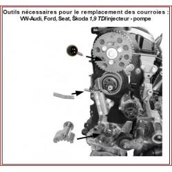 kit calage courroie VW AUDI VAG SEAT SKODA TDI
