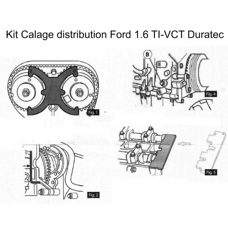 kit calage distribution ford 1 6 ti vct duratec. Black Bedroom Furniture Sets. Home Design Ideas