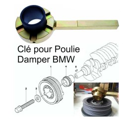 Clé de blocage poulie Damper BMW - marque BGS Technic
