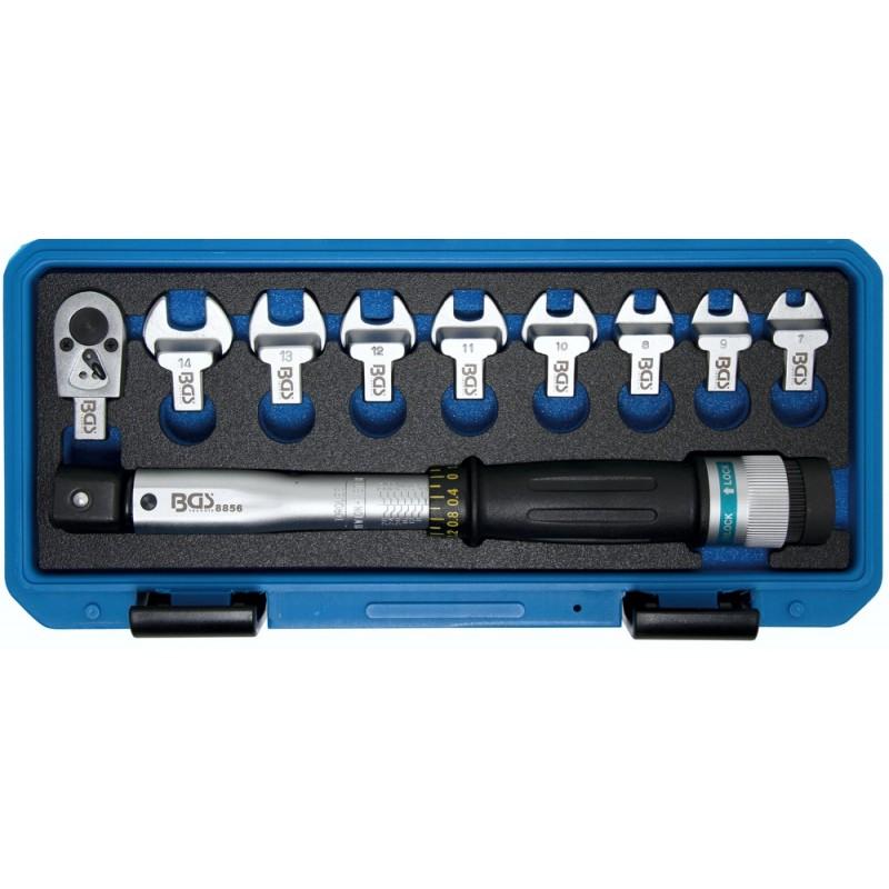 Clé dynamométrique clé plate de 7 à 14mm + Cliquet