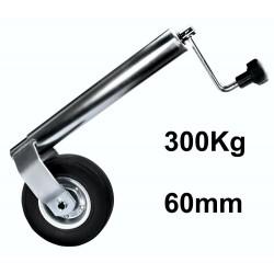 Roue jockey 60mm 300Kg