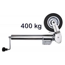 Roue jockey 60mm 400Kg avec patte de fixation décalée