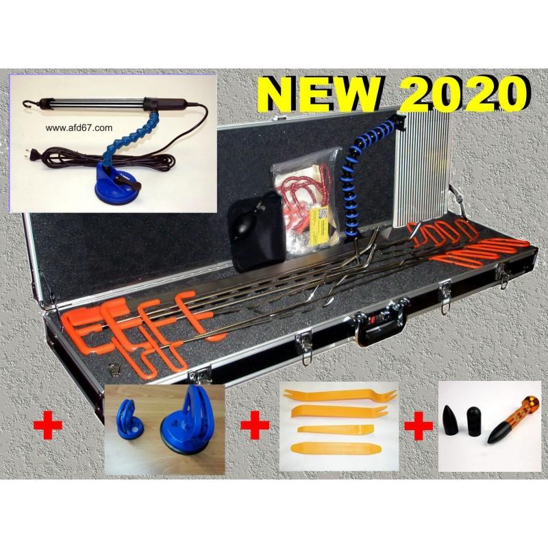 kit professionnel de debosselage sans peinture + valise Delux