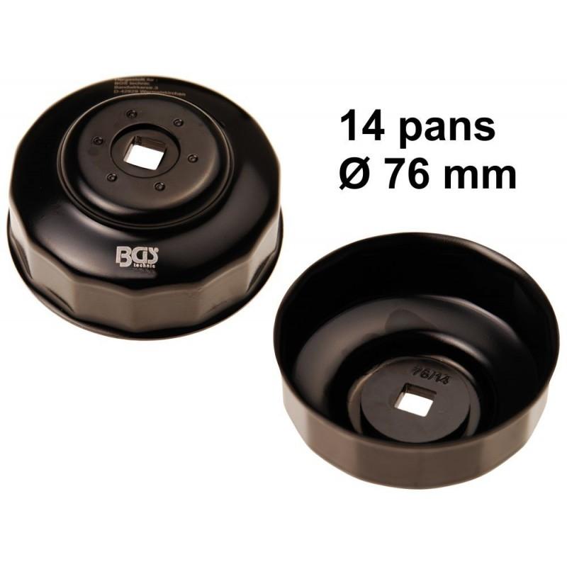 Cloche filtre à huile 14 pans Ø 76mm