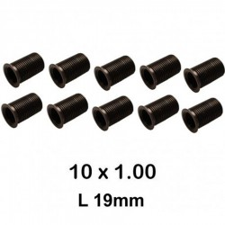 10 Inserts de M10 x 1.0 19mm