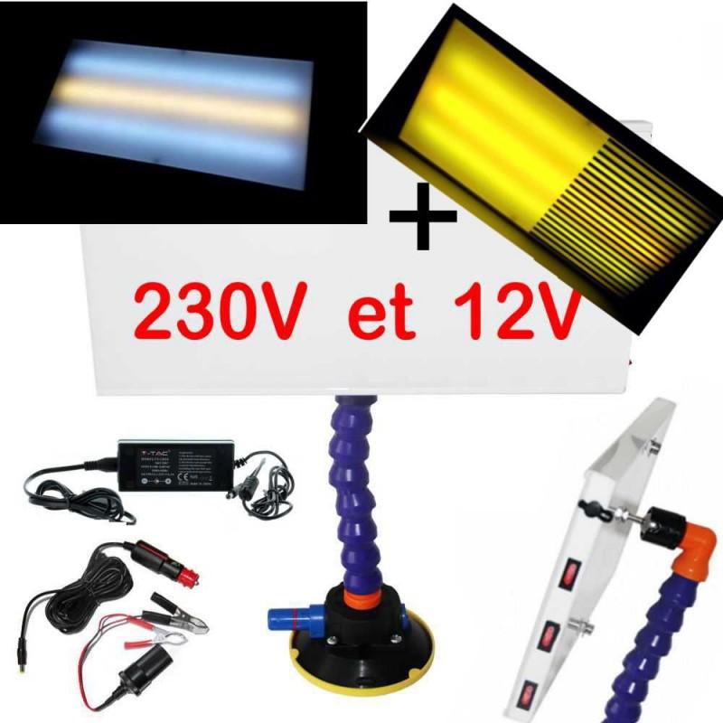 Lampe Pro LED 230v et 12v Boardline débosselage sans peinture