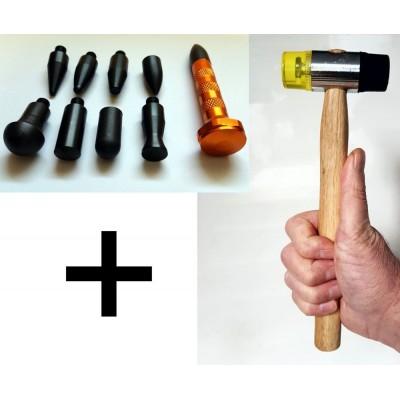 Pointe à frapper + Marteau 32mm Débosselage sans peinture