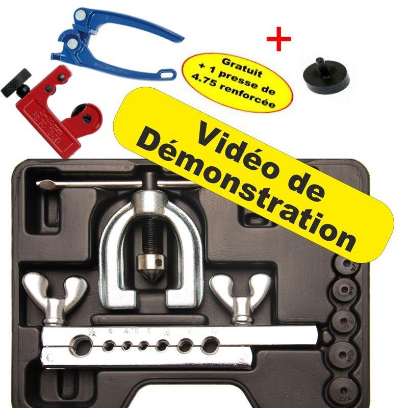 Kit réparation tuyau frein + Cintreuse 4-6-8-10 mm