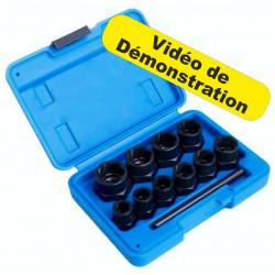 Kit Extracteur de Boulons Usés 9 -19mm clé à Choc