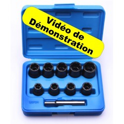 Kit Extracteur de Boulons Usés 10 -19mm