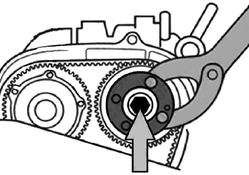 Clé blocage poulie AAC - poulie, VAG Audi, Seat, Skoda, VW