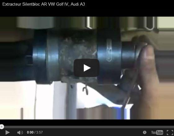 Remonter les silentbloc AR Golf 4 - IV, Bora, Audi A3, Skoda, Octavia